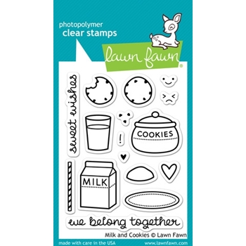 Lawn Fawn MILK AND COOKIES Clear Stamps LF725