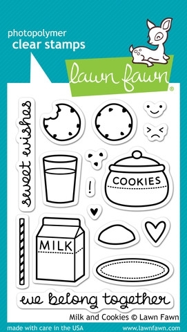 Lawn Fawn MILK AND COOKIES Clear Stamps LF725 zoom image