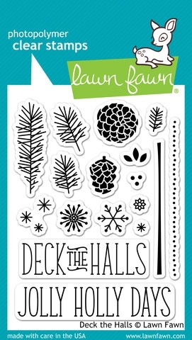 Lawn Fawn DECK THE HALLS Clear Stamps LF721 Preview Image