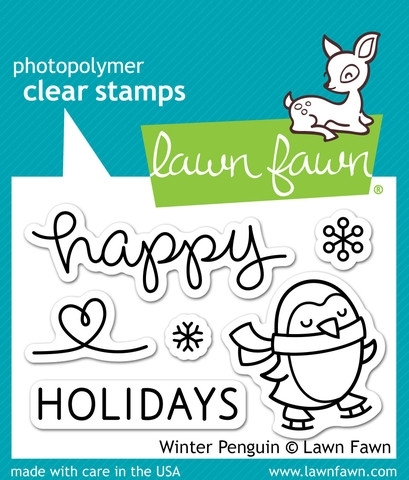 Lawn Fawn WINTER PENGUIN Clear Stamps LF727 Preview Image