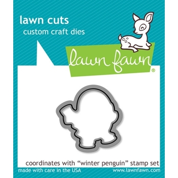 Lawn Fawn WINTER PENGUIN Lawn Cuts Dies LF728
