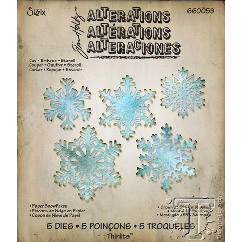 Tim Holtz Sizzix PAPER SNOWFLAKES Thinlits Die 660059 Preview Image