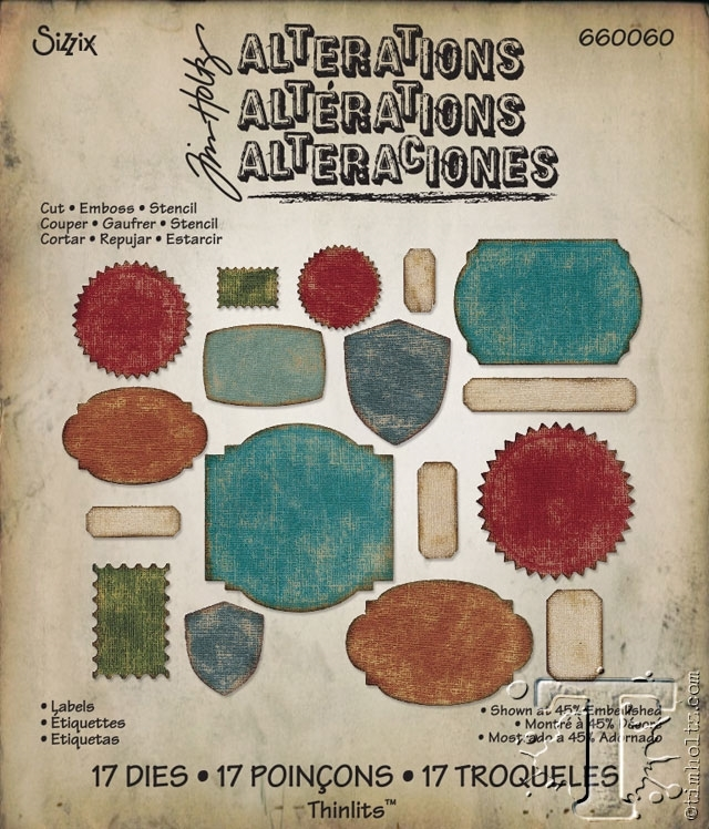 Tim Holtz Sizzix LABELS Thinlits Die 660060 zoom image
