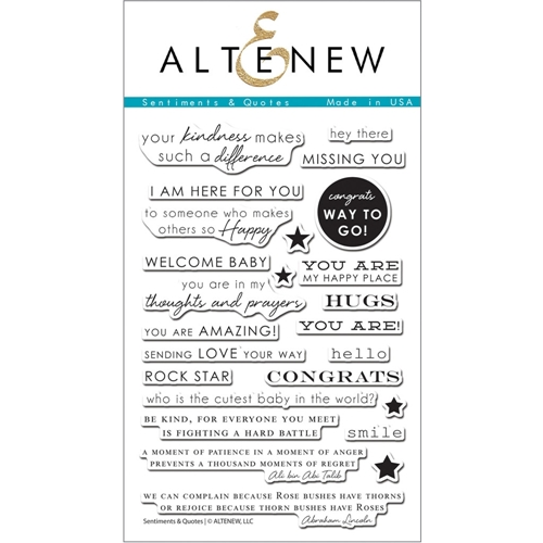 Altenew SENTIMENTS & QUOTES Clear Stamp Set ALT1086 Preview Image