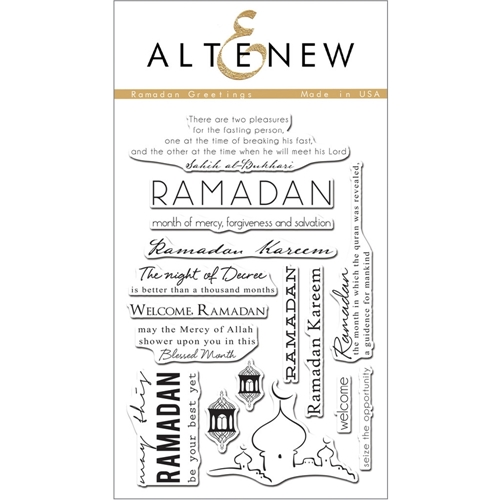 Altenew RAMADAN GREETINGS Clear Stamp Set ALT1058 Preview Image