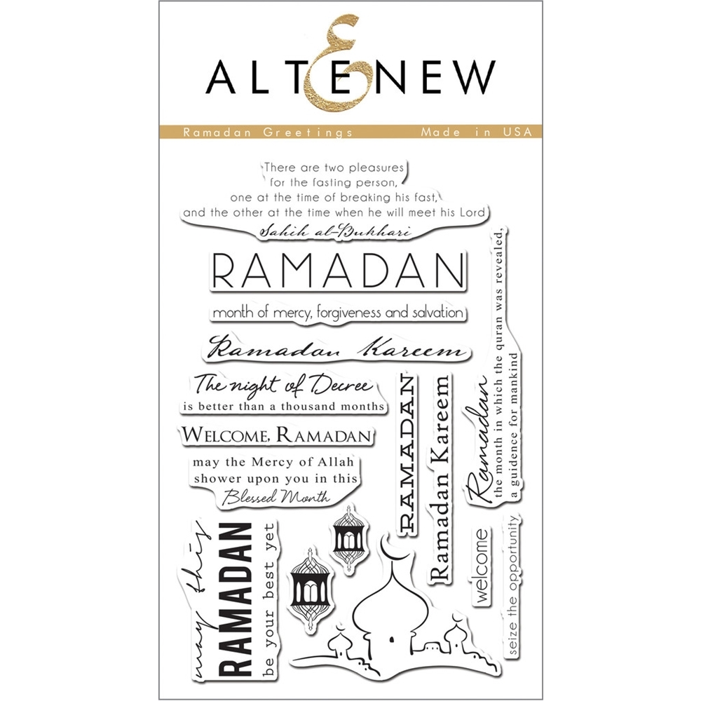 Altenew RAMADAN GREETINGS Clear Stamp Set ALT1058 zoom image