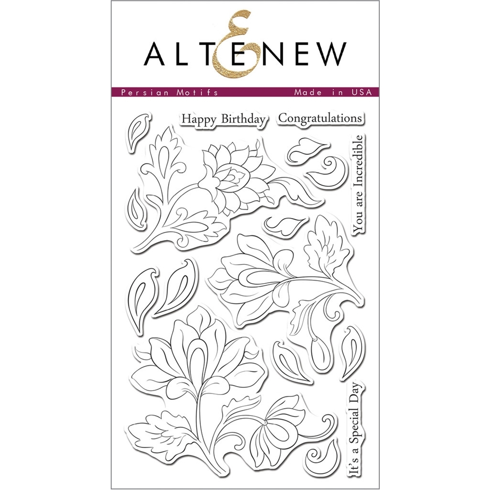 Altenew PERSIAN MOTIFS Clear Stamp Set ALT1007 zoom image