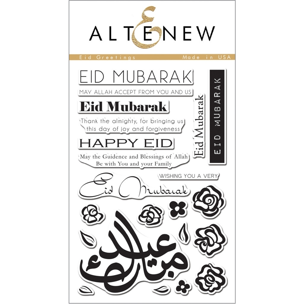 Altenew EID GREETINGS Clear Stamp Set ALT1059 zoom image