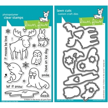 Lawn Fawn SET LF214CITA CRITTERS IN THE ARCTIC Clear Stamps and Dies*