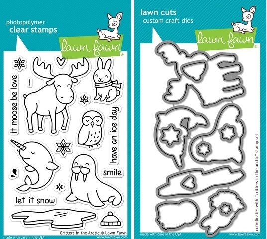 Lawn Fawn SET LF214CITA CRITTERS IN THE ARCTIC Clear Stamps and Dies* zoom image
