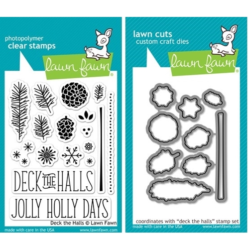 Lawn Fawn SET LF214DTH DECK THE HALLS Clear Stamps And Dies* Preview Image