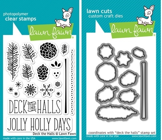 Lawn Fawn SET LF214DTH DECK THE HALLS Clear Stamps And Dies* zoom image