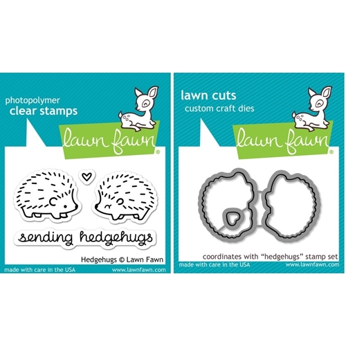 Lawn Fawn SET LF214HHG HEDGEHUGS Clear Stamps And Dies Preview Image