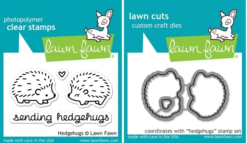 Lawn Fawn SET LF214HHG HEDGEHUGS Clear Stamps And Dies zoom image