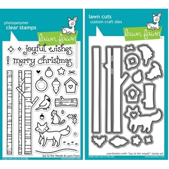 Lawn Fawn SET LF214JTTW JOY TO THE WOODS Clear Stamps And Dies*