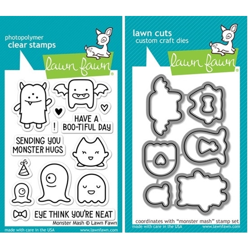 Lawn Fawn SET LF214MMSH MONSTER MASH Clear Stamps And Dies Preview Image