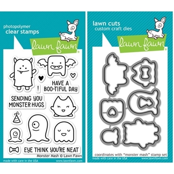 Lawn Fawn SET LF214MMSH MONSTER MASH Clear Stamps And Dies