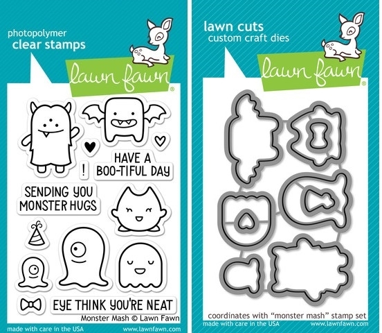 Lawn Fawn SET LF214MMSH MONSTER MASH Clear Stamps And Dies zoom image