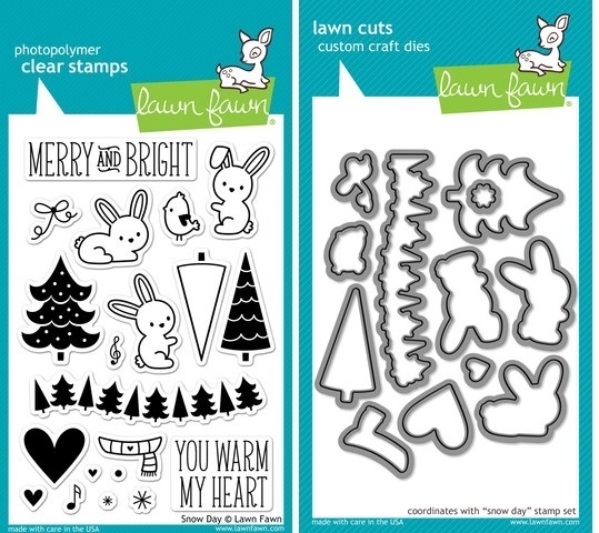 Lawn Fawn SET LF214SDY SNOW DAY Clear Stamps And Dies zoom image