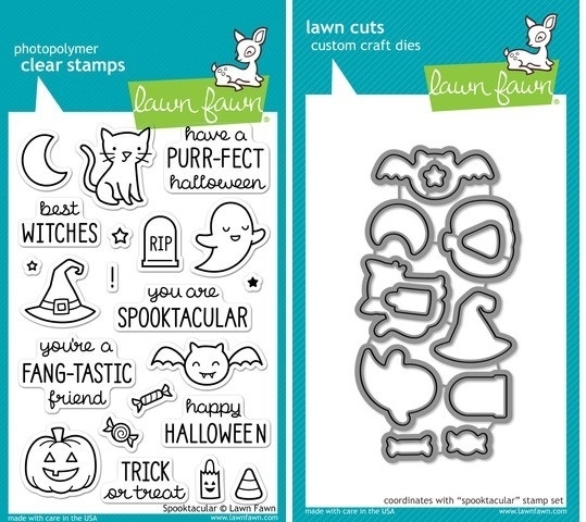 Lawn Fawn SET LF214SPK SPOOKTACULAR Clear Stamps And Dies zoom image