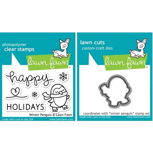 Lawn Fawn SET LF214WP WINTER PENGUIN Clear Stamps And Dies Preview Image