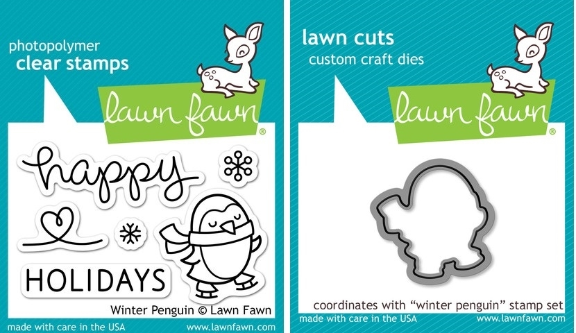 Lawn Fawn SET LF214WP WINTER PENGUIN Clear Stamps And Dies zoom image