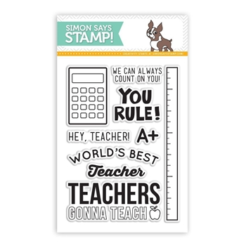 Simon Says Clear Stamps HEY TEACHER sss101419 Teacher's Pet