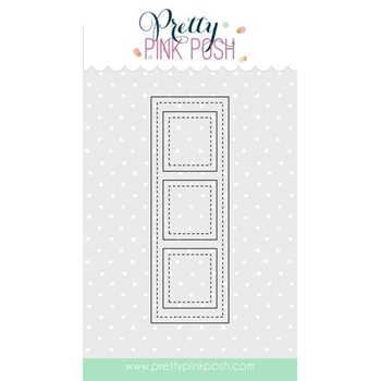 Pretty Pink Posh STITCHED FILM STRIP Steel Craft Die PPPD003