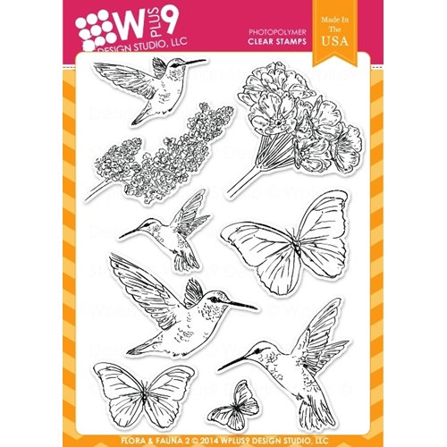 Wplus9 FLORA AND FAUNA 2 Clear Stamps CL-WP9F&F2 Preview Image