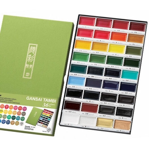 Zig Kuretake Gansai Tambi 36 COLOR SET Preview Image