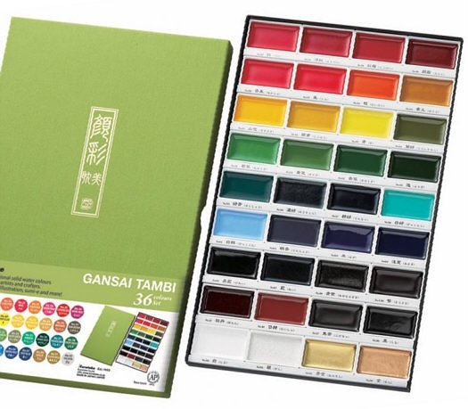 Zig Kuretake Gansai Tambi 36 COLOR SET zoom image