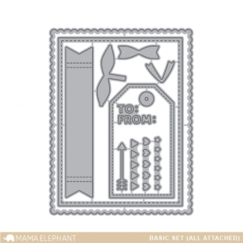 Mama Elephant BASIC SET Creative Cuts Steel Die Set Preview Image