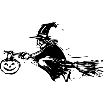 Tim Holtz Rubber Stamp CARVED WITCH Stampers Anonymous U1-2410