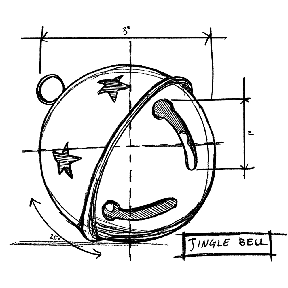 Tim Holtz Rubber Stamp JINGLE BELL SKETCH Stampers Anonymous P1-2419* zoom image