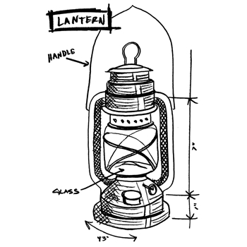 Tim Holtz Rubber Stamp LANTERN SKETCH U1-2420 *