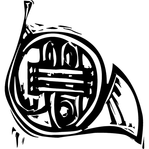 Tim Holtz Rubber Stamp CARVED FRENCH HORN M2-2427 * Preview Image
