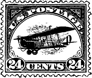 Tim Holtz Rubber Stamp AIR POSTAGE STAMP Stampers Anonymous D3-2431 Preview Image