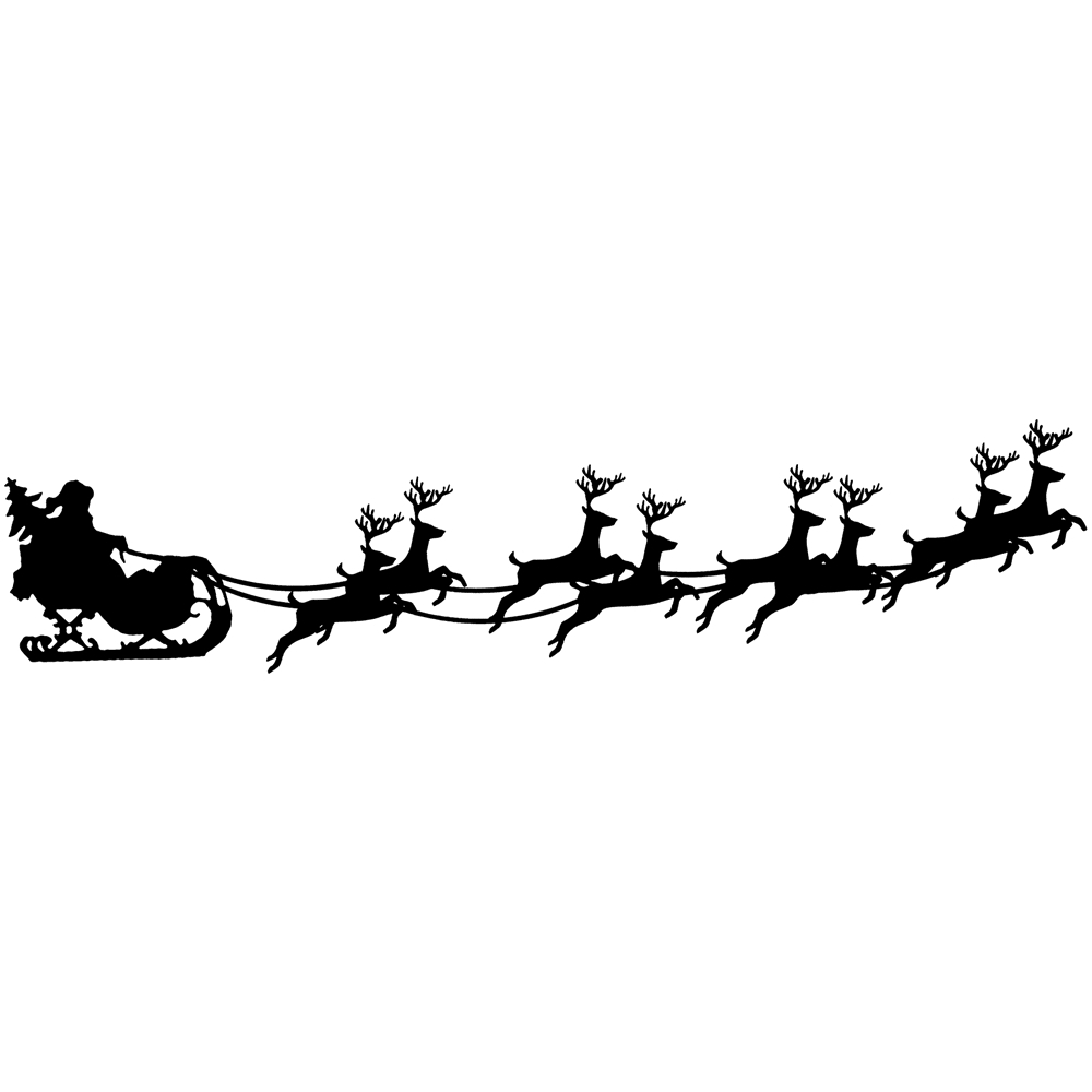 Tim Holtz Rubber Stamp SANTA SLEIGH Stampers Anonymous K6-2435 zoom image