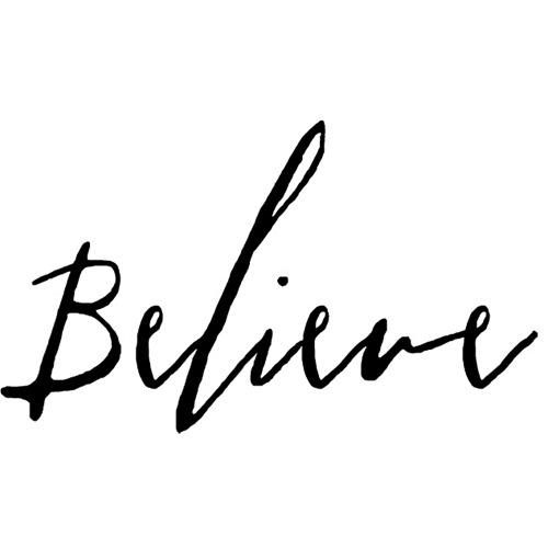 Tim Holtz Rubber Stamp WRITTEN BELIEVE Stampers Anonymous G2-2438 Preview Image