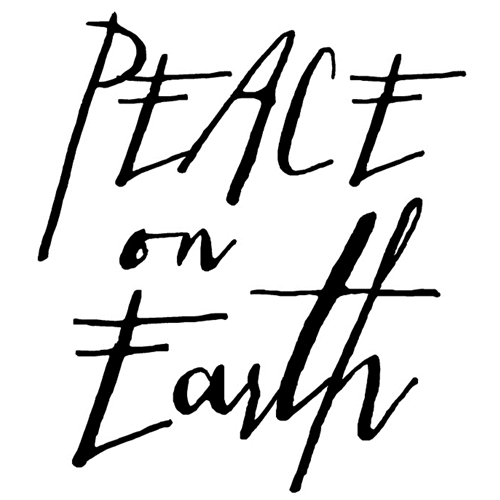Tim Holtz Rubber Stamp WRITTEN PEACE ON EARTH Stampers Anonymous H2-2439 Preview Image