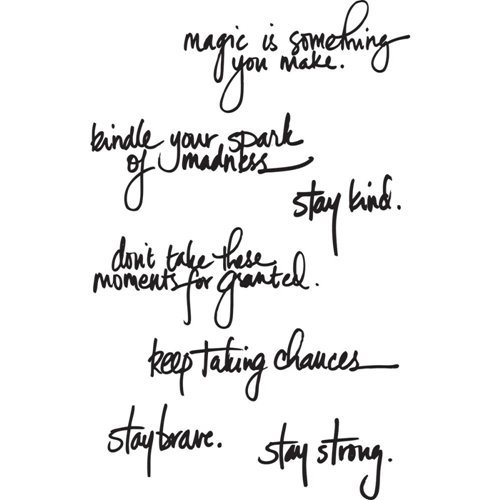 Dina Wakley HANDWRITTEN QUOTES Media Cling Rubber Stamp MDR44475  Preview Image
