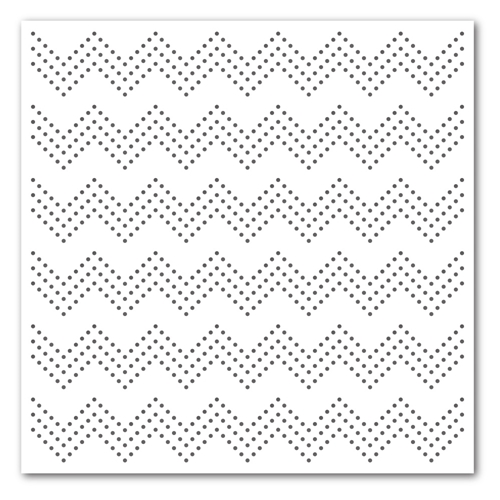 Simon Says Stamp Stencil ZIG ZAG DOTS ssst121360 Preview Image