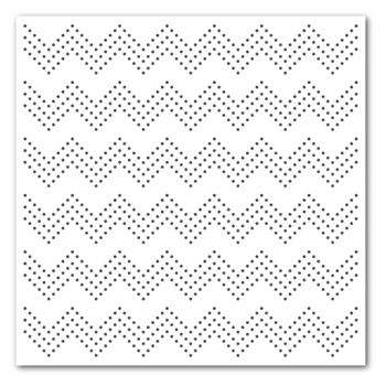 Simon Says Stamp Stencil ZIG ZAG DOTS ssst121360