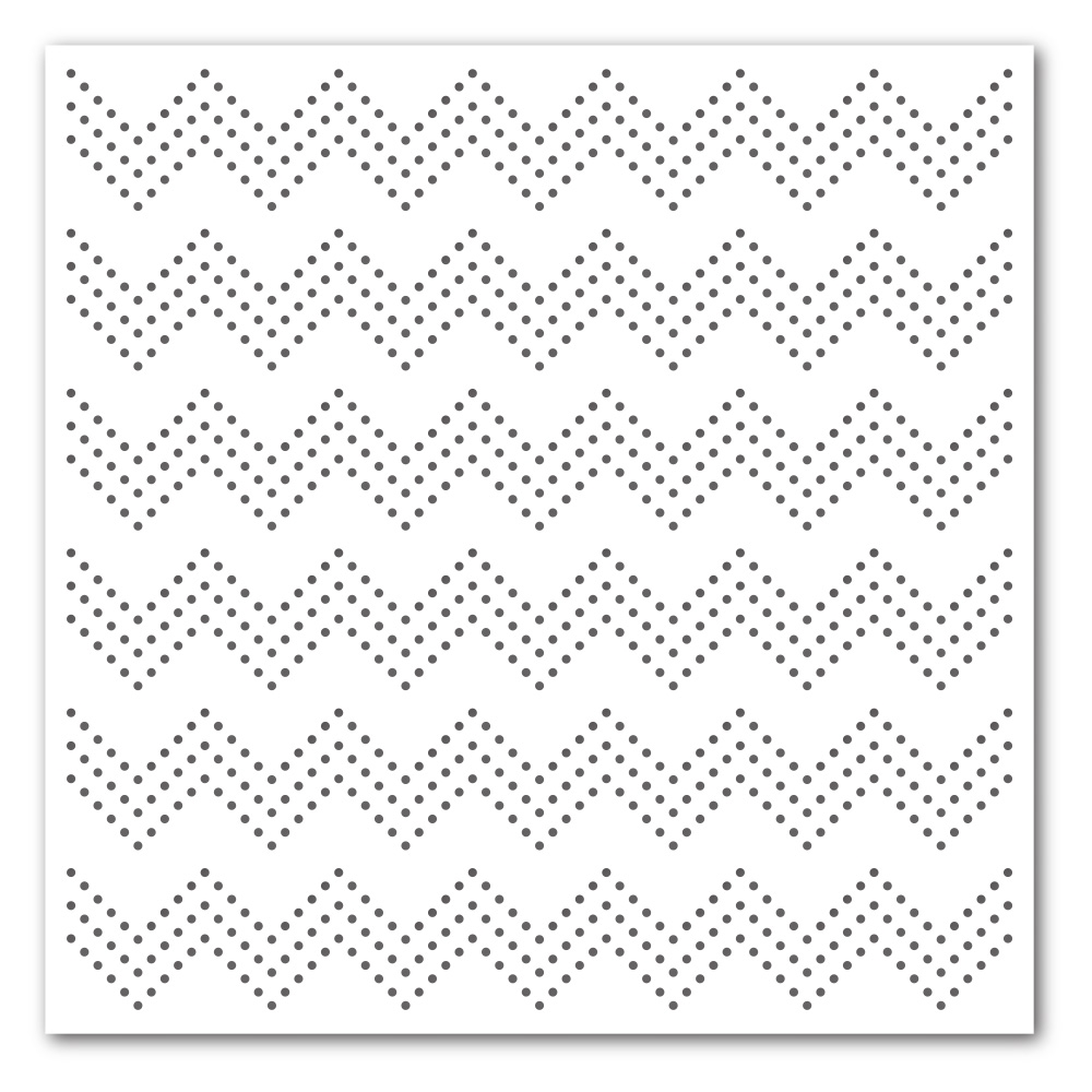 Simon Says Stamp Stencil ZIG ZAG DOTS ssst121360 zoom image