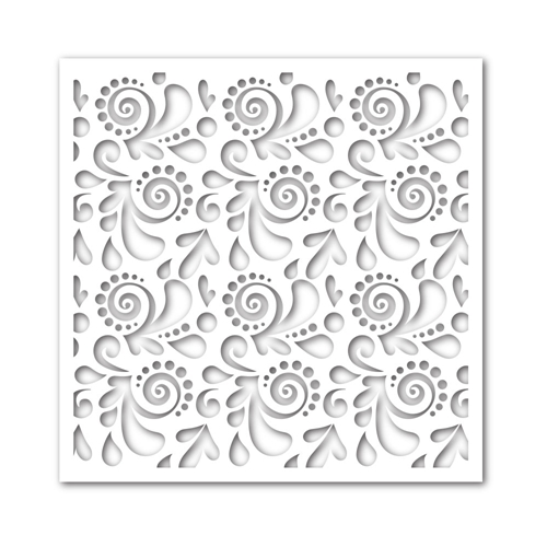 Simon Says Stamp Stencil SWIRLS AND DOTS ssst121362 Preview Image