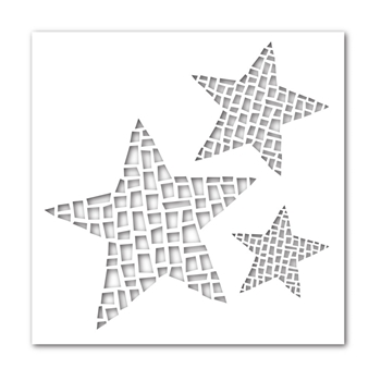Simon Says Stamp Stencil MOSAIC STARS ssst121358 *