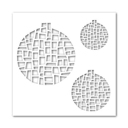 Simon Says Stamp Stencil MOSAIC ORNAMENTS ssst121359 Preview Image