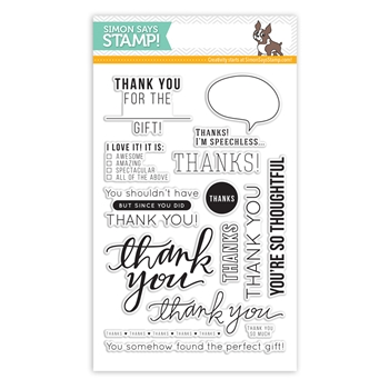 Simon Says Clear Stamps MANY THANKS sss101463