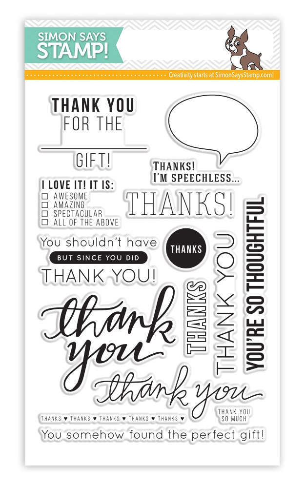 Simon Says Clear Stamps MANY THANKS sss101463 zoom image
