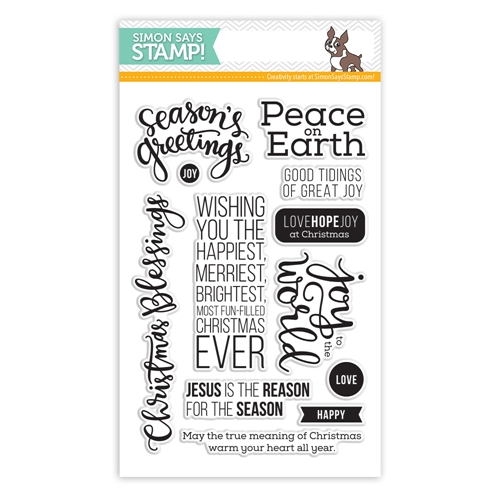 Simon Says Clear Stamps PEACE ON EARTH sss101436 Preview Image